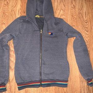 Aviator Nation 5 stripe hoodie